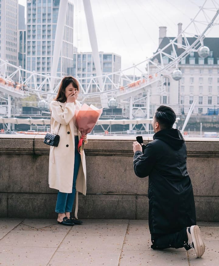 Propose photoshoot, London Eye