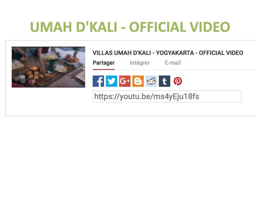 Discover Umah D'Kali through this video