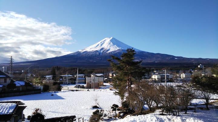 KAINOSATO 河口湖駅から徒歩8分、富士山絶景!コンビニ徒歩2分!