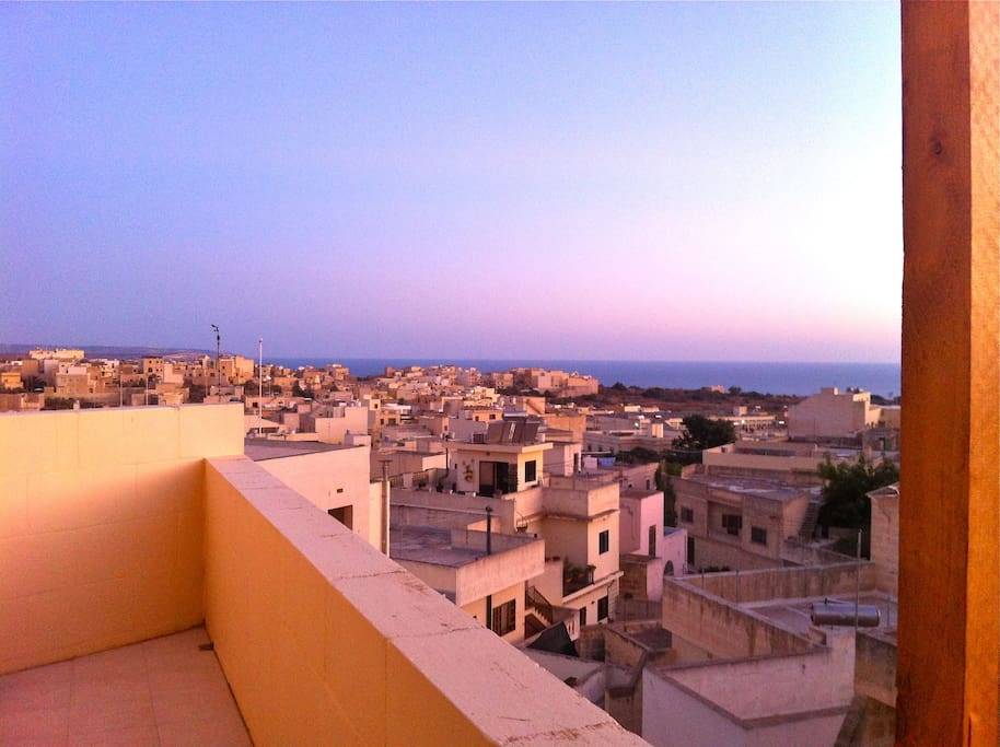 View from the terrace (sunset)