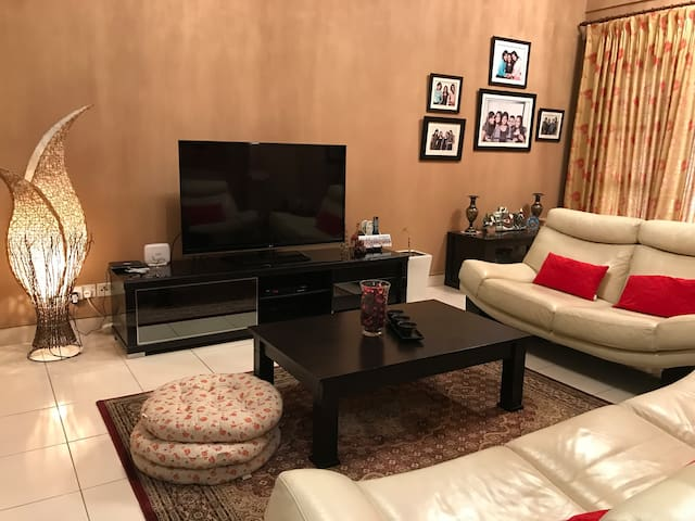 42 inch television for guests to enjoy the latest movies and sports