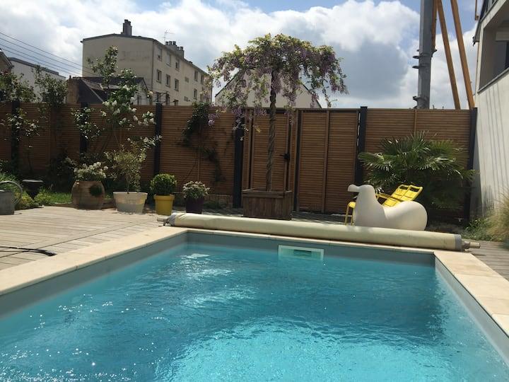 Maison d'architecte avec piscine (Rennes)