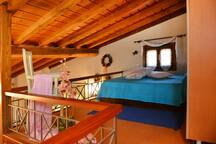 Attic with double bed
