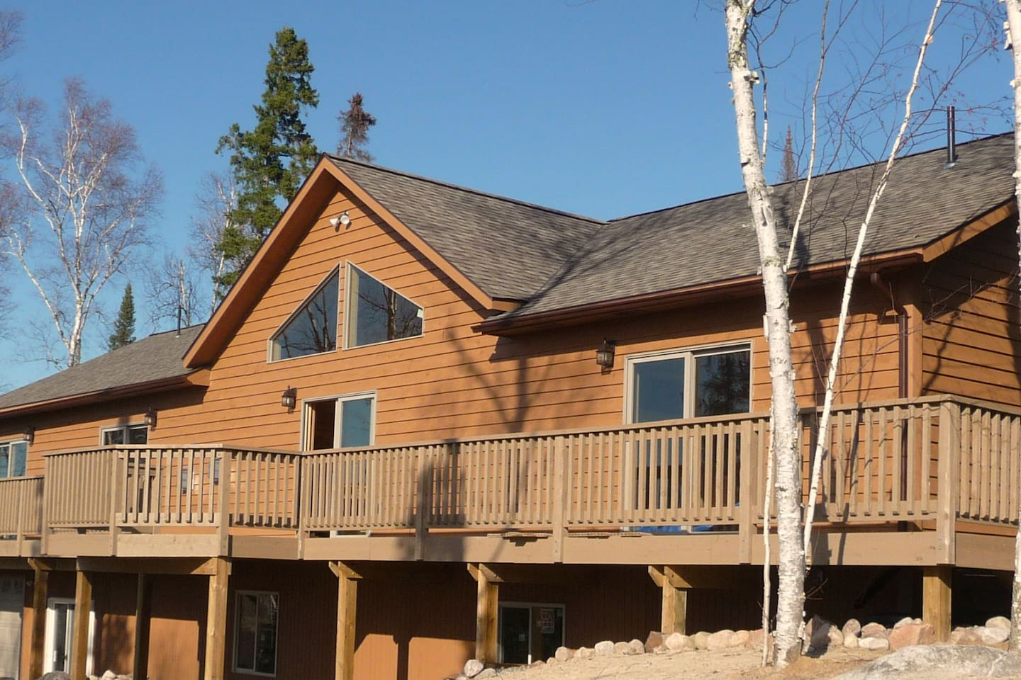 A 74 Large Deck With High Patio Table And Chairs For Viewing The Sunset Across