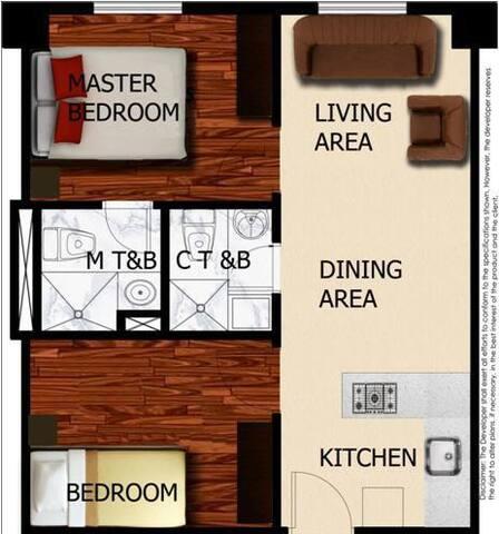 New 2 bedroom 2 bath Condo - Baguio City