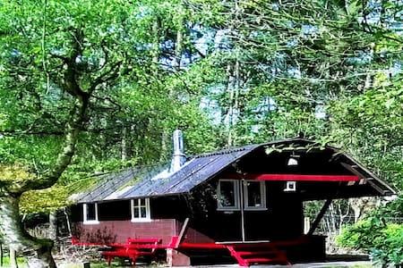 Urlaub im ZIRKUSWAGEN am Teich - Hütte