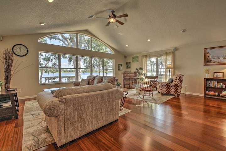 Waterfront Dunnellon House w/ Serene Sunrise Views