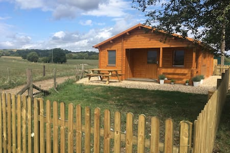 Log Cabin with Hot Tub on farm Bridport, W Dorset