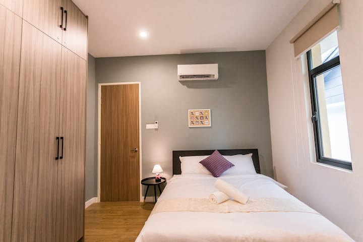 2nd Floor Bedroom 4 with Queen Bed and Air Conditioning