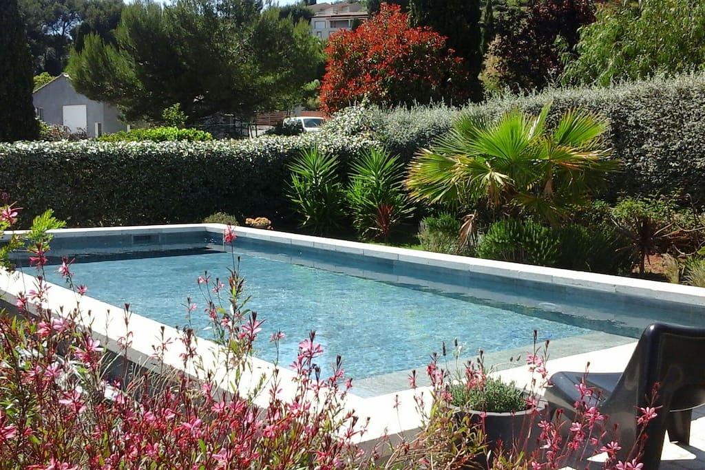 Brise marine belle maison avec piscine vue mer maisons for Piscine carqueiranne