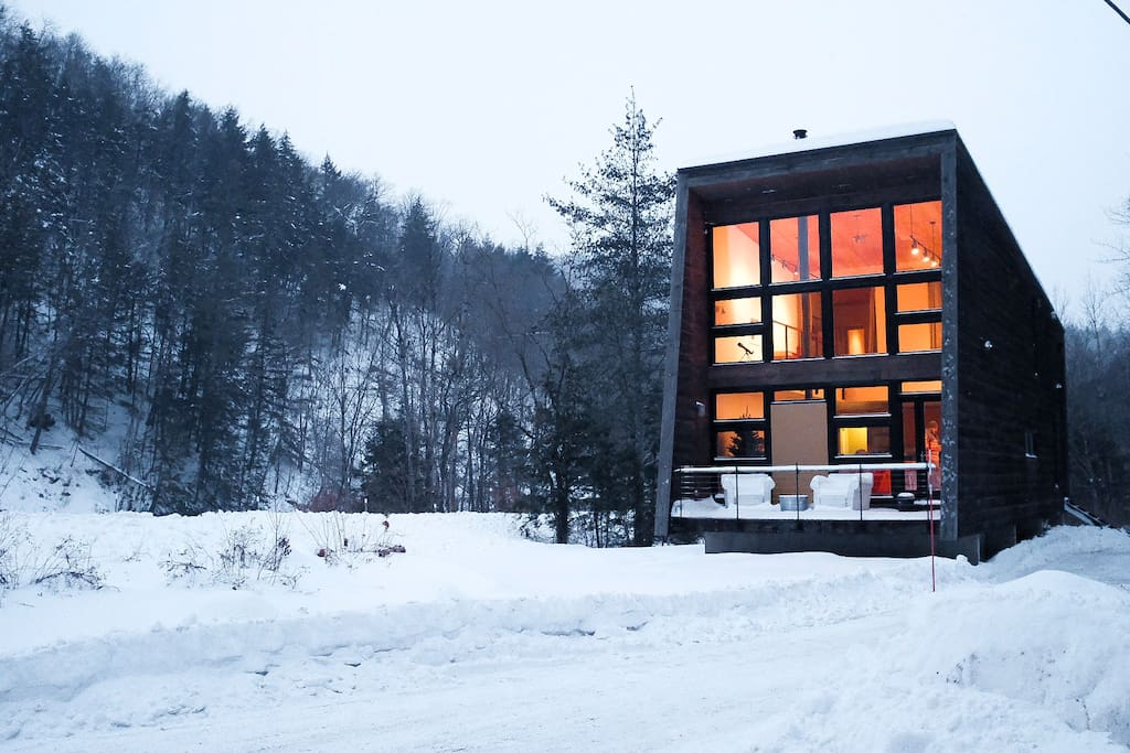 Green Mountain Modern House Secluded Vt Getaway Cabins