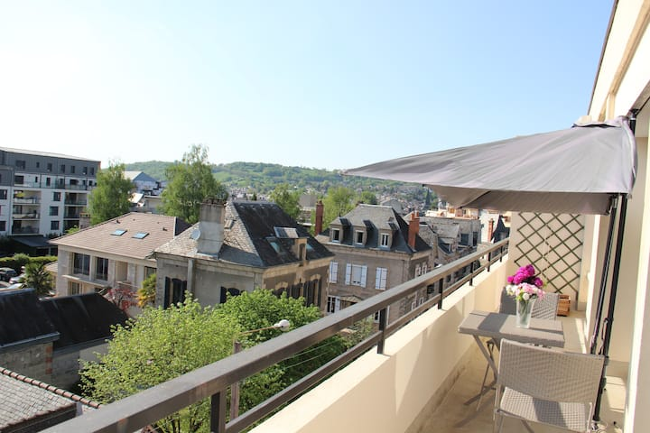 Grd appartement cosy. terrasse sud-ouest