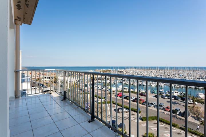 Am Mittelmeer, gr 2-Zi-Wohnung mit Meerblick - Palavas-les-Flots - Leilighet