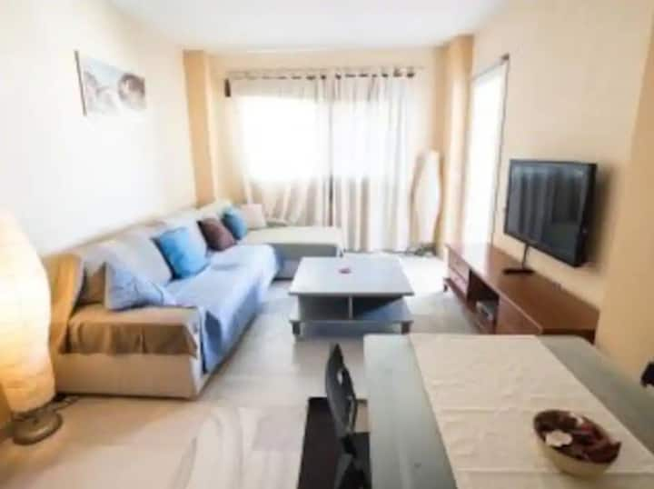 """Holiday Apartment """"Apartamento Torremolinos LC"""" with Shared Pool, Air Conditioning, Balcony and WiFi; Parking Available"""