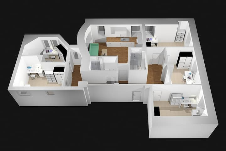 Student Only Property: Extraordinary SUPERIOR FLAT - LOS 12 months 10% off