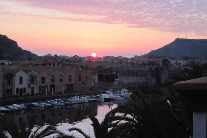 """""""sun salutation"""" :-) panoramic view from the balcony"""