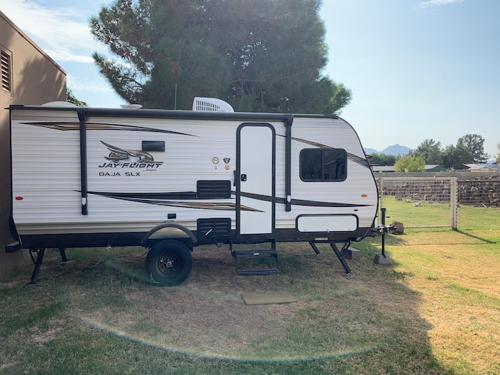 Stay in a brand new Jayco bunkhouse trailer!