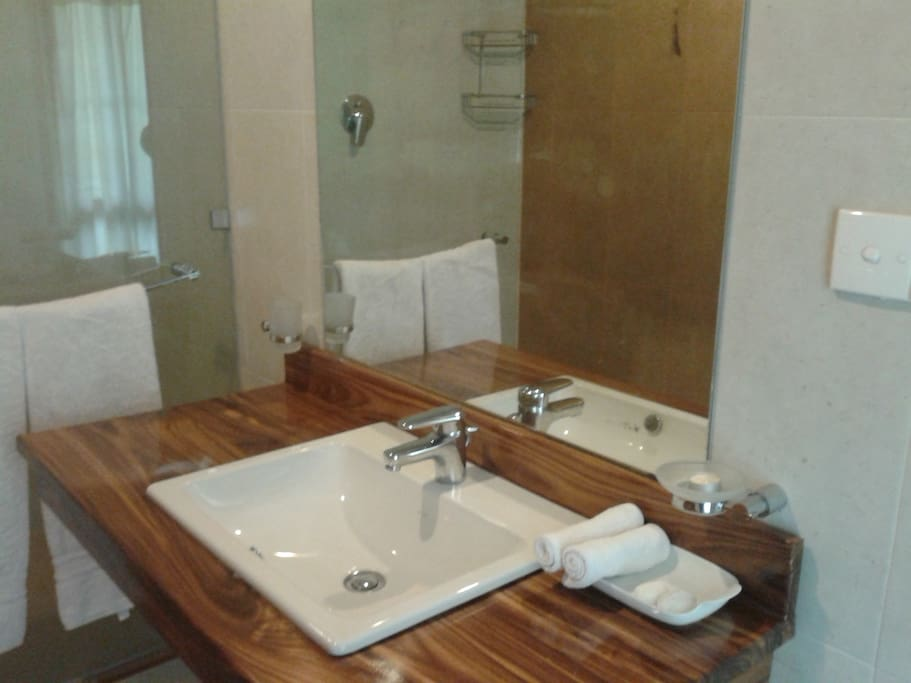 modern attached bathroom