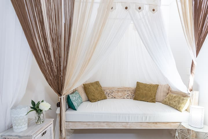 Sleeping Nook on a Balinese Bed