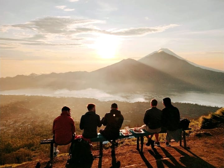 Enjoy the sunrise with breakfast