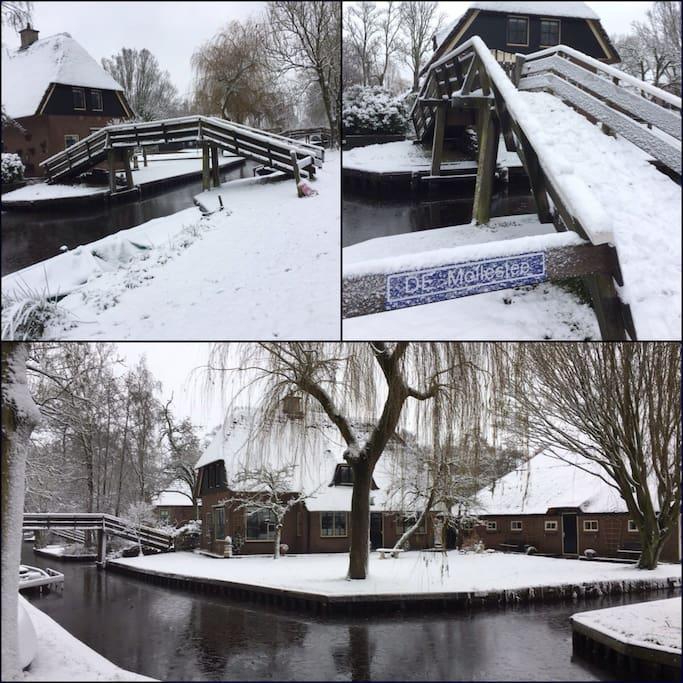 B&B De Mollestee Giethoorn in winter