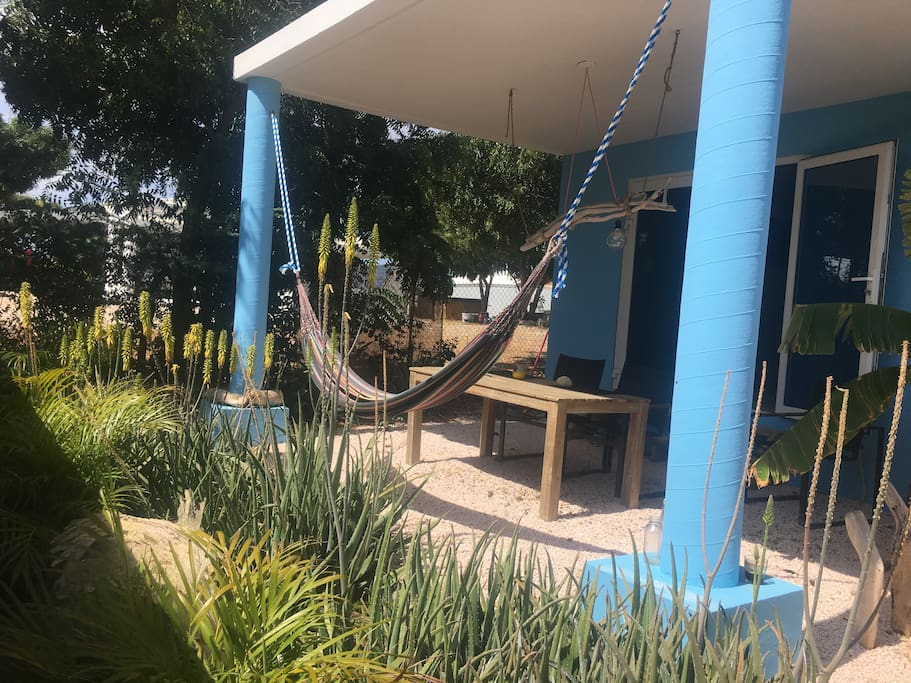 Spacious Patio with lazy hammock