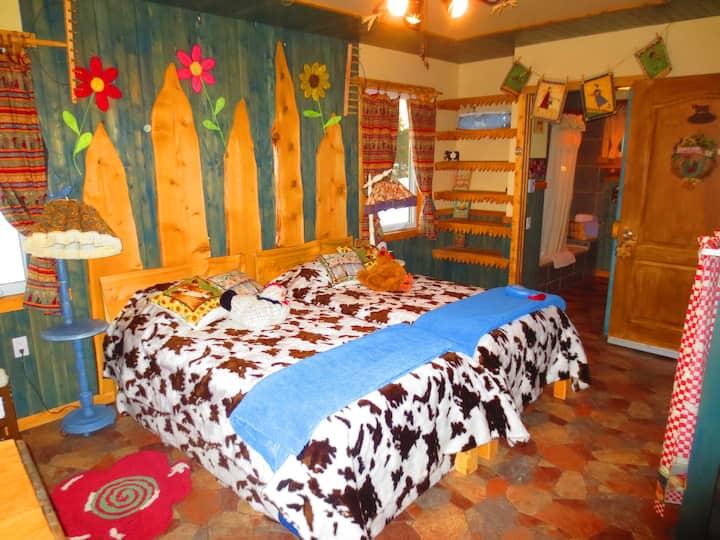 Au Gîte Ambrelane: La Chambre La Campagnarde