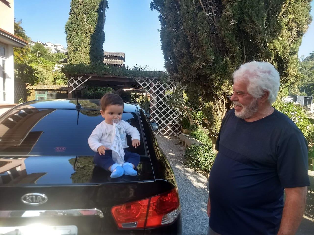 Meu pai Daniel,e meu filho Lorenzo.