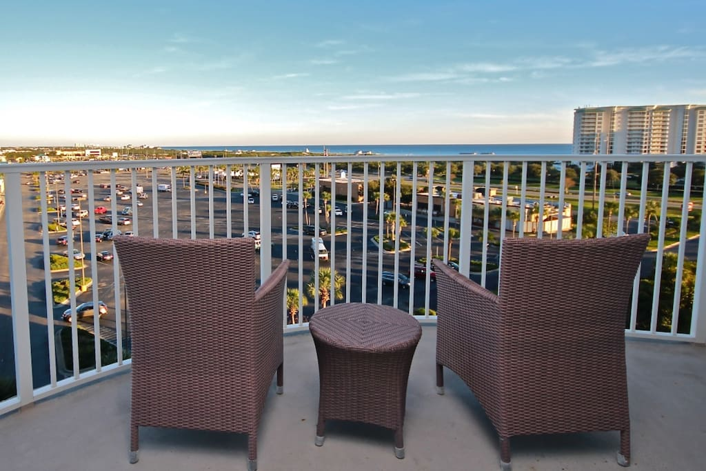Enjoy the beautiful gulf views from the balcony