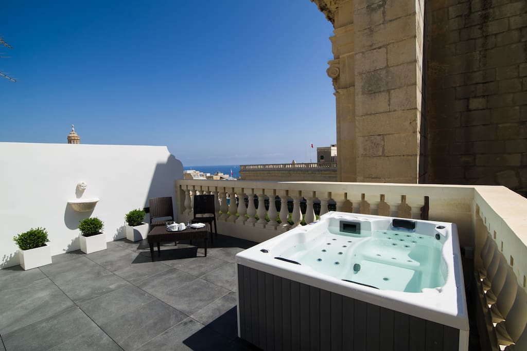 Private Terrace with Jacuzzi & Views