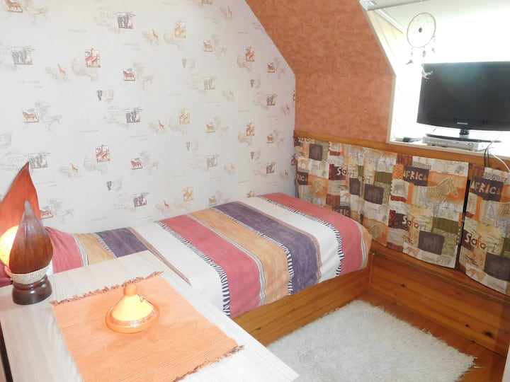 Cosy room close to Evry and -1h from Paris