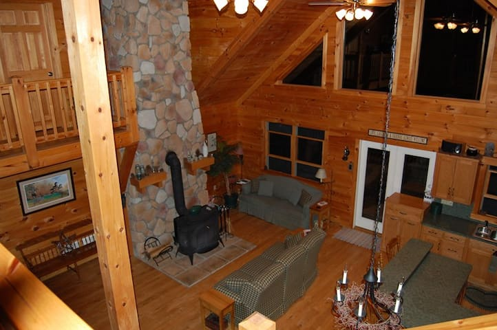 Cozy up to our wood stove on a cool evening