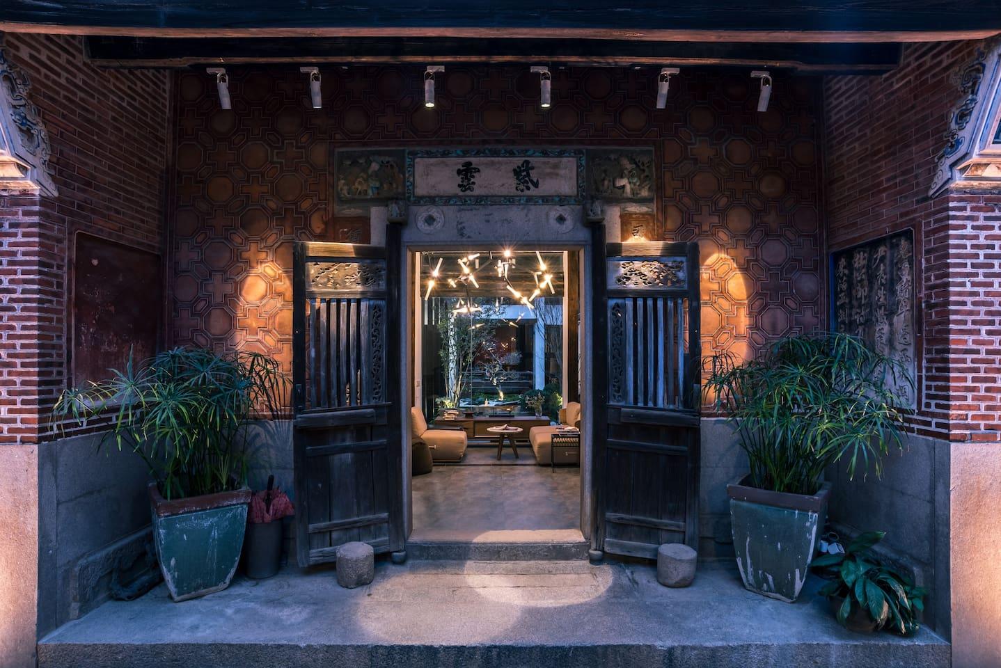 百年古厝,入户大门,光绪年间的建筑完整保留