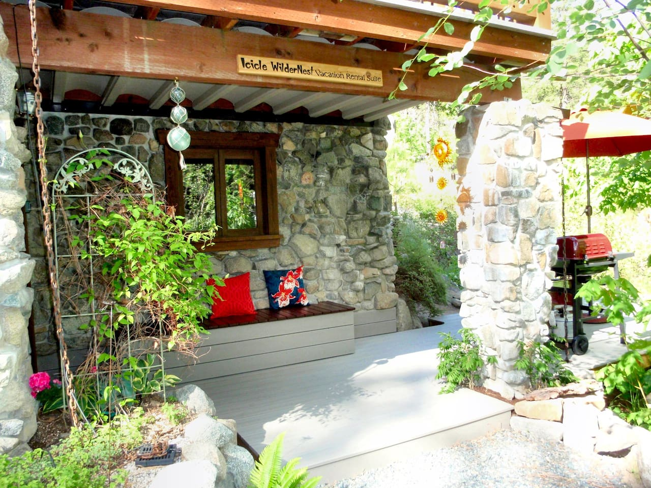 Icicle WilderNest Suite Entrance with Private Deck