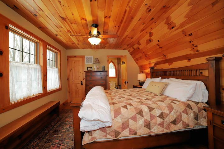 Upstairs king master suite with awesome long range view.
