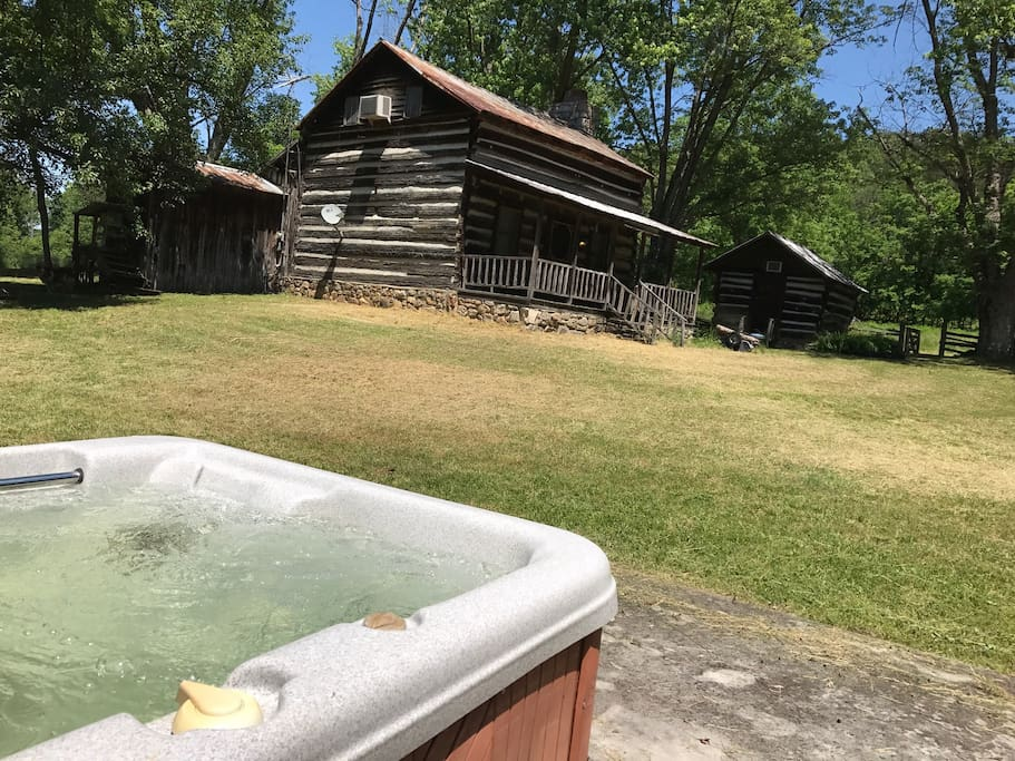 Enjoy watching the history on your private 20 acres in your private hot tub!