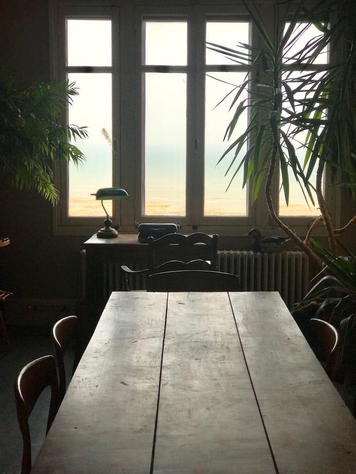 Ault, Maison Belle Époque avec vue sur la Manche