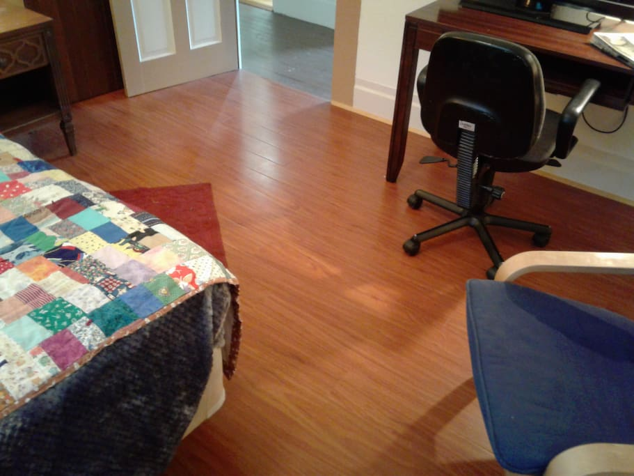 Engineered hardwood flooring.
