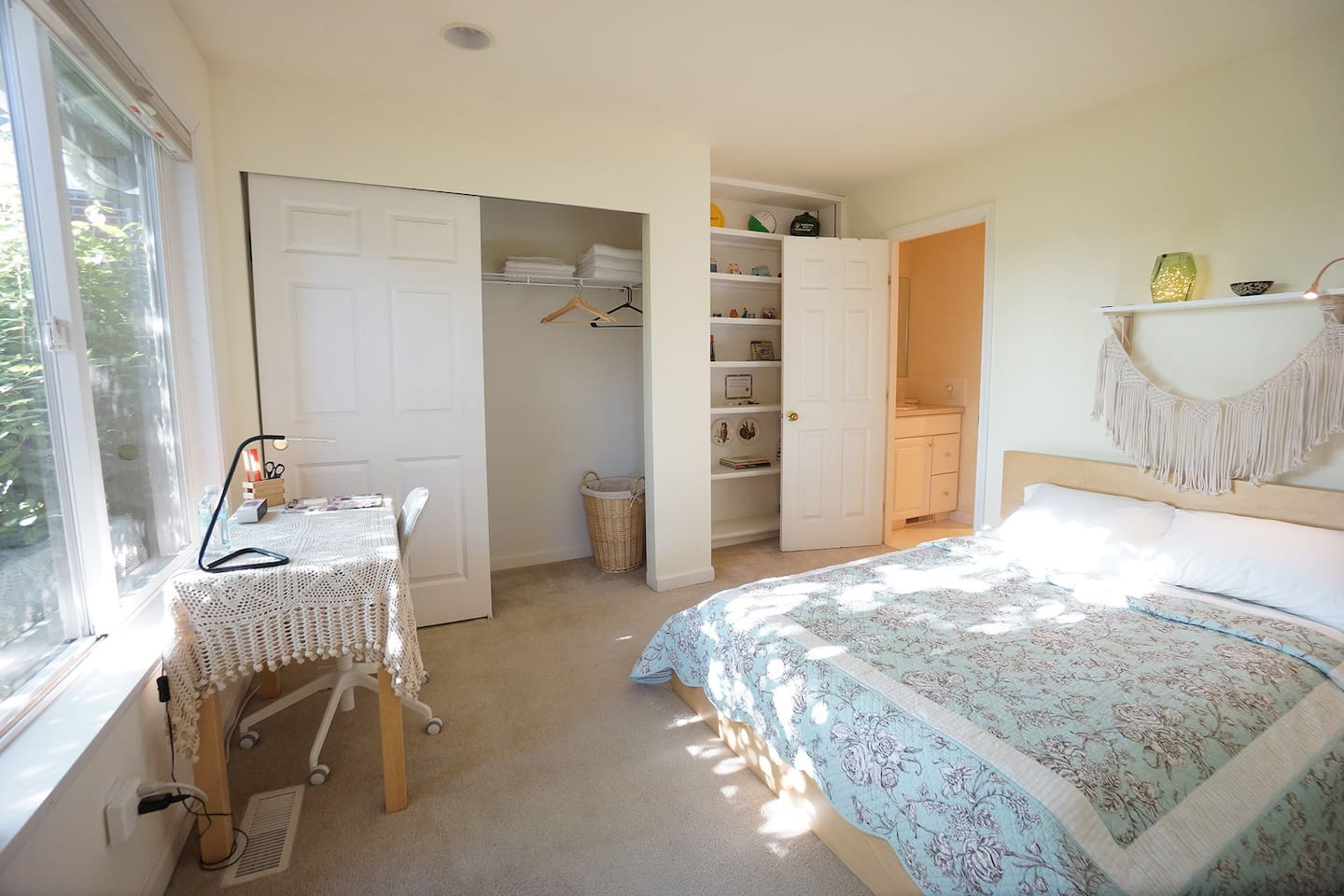 Your sunny and comfy room with an en suite bathroom.