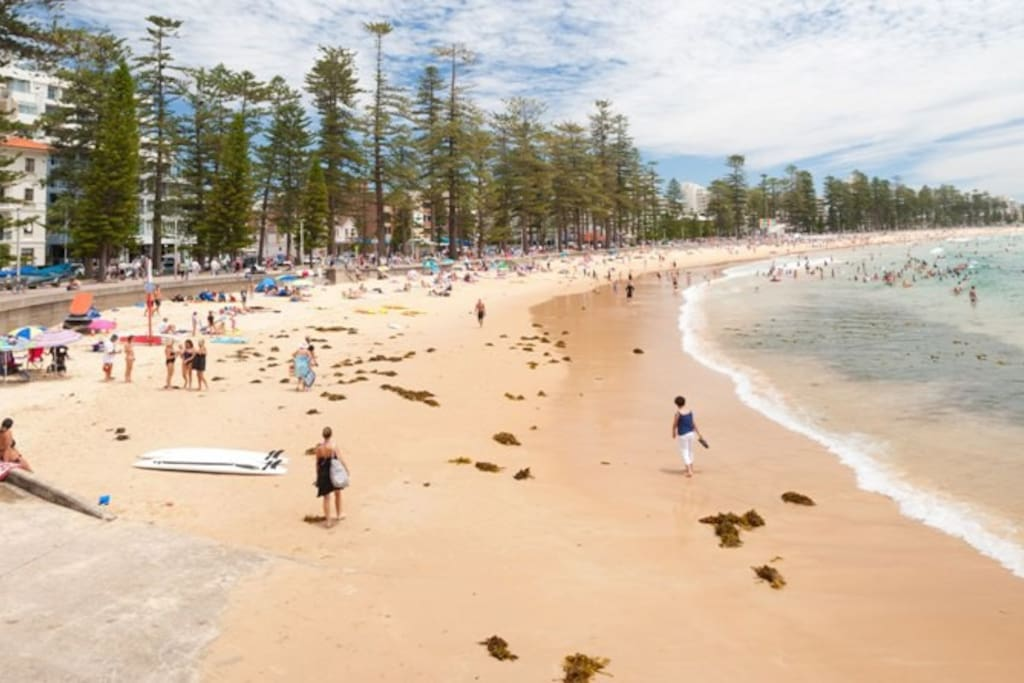 Just around the corner from Manly Beach (photo not our property)