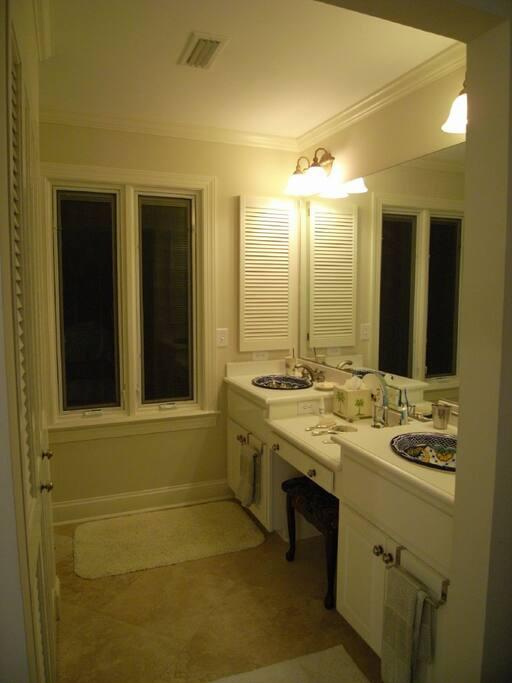 Master bedroom double vanity