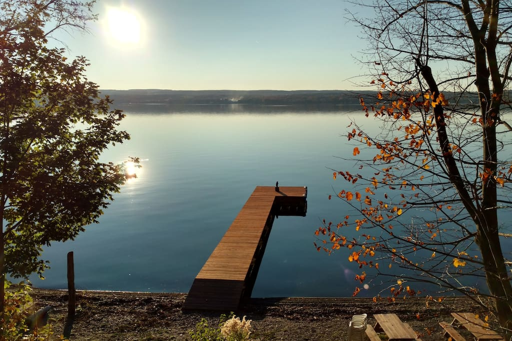 72 feet of lake frontage with dock