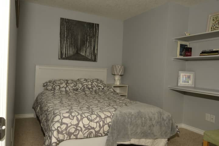 Bedroom 1 in modern basement - Crystal Green
