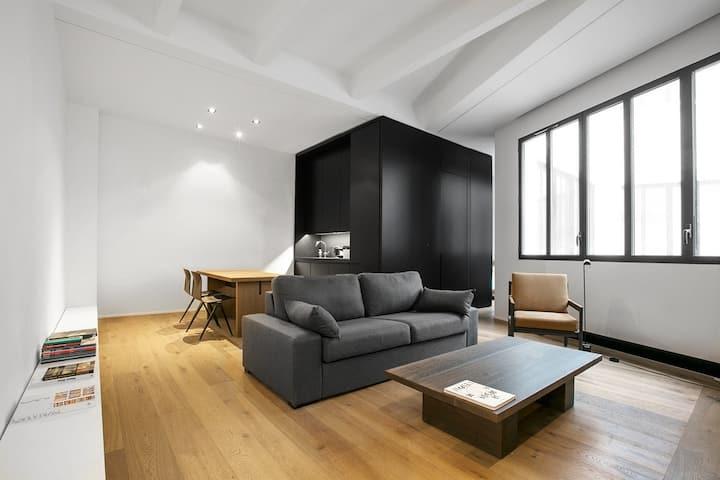 Minimalist Architect Apartment Paris X