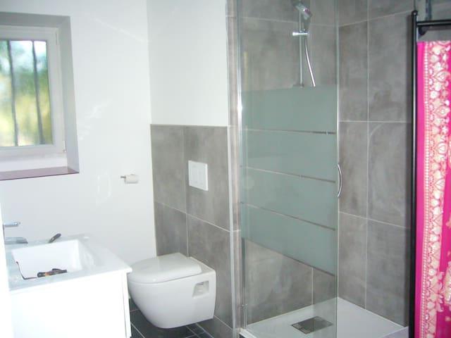 chambre avec salle de bains et wc - Cusy