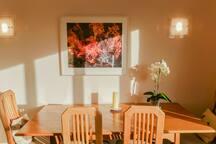 Plenty of dining space.