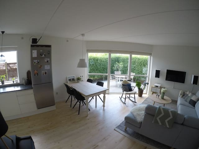 Nice apartment with private garden close to nature