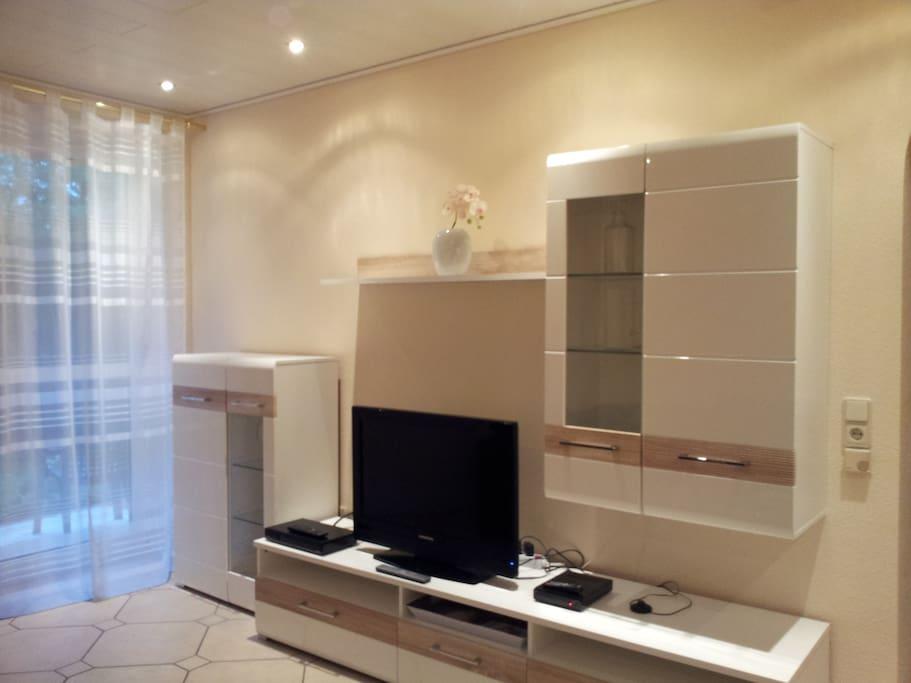 Apartment 1 TV/Living Area