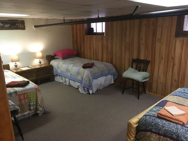 Twin bed B-SHARED sub-level rm 10 Min to Downtown