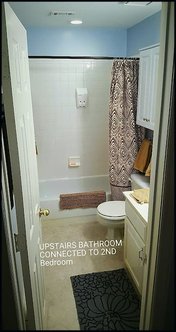 There is a full bath upstairs and a 1/2 bath down stairs